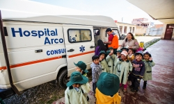 Young beneficiaries of HOPE worldwide programs in La Paz.