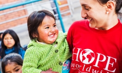Personal attention from a HOPE worldwide staffer in La Paz.