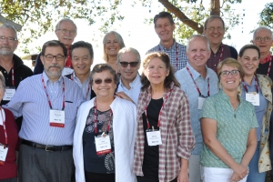 Dave at the 25th reunion with fellow Project Redwood partners.